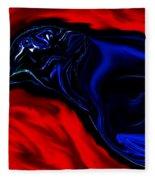 Wise Old Crow In Strange Light. Fleece Blanket