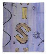 Wish Acrylic Watercolor Fleece Blanket