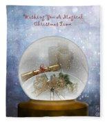 Wishing You A Magical Christmas Time Fleece Blanket