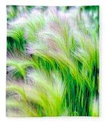 Wispy Green Fleece Blanket