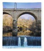 Wissahickon Viaduct Fleece Blanket
