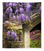 Wisteria Blossom Fleece Blanket