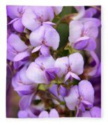 Wisteria Blossoms Fleece Blanket