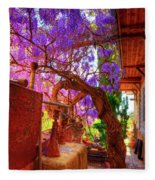 Wisteria Canopy In Bisbee Arizona Fleece Blanket