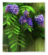 Wisteria 2 Fleece Blanket