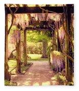 Wisteria In Watercolor Fleece Blanket