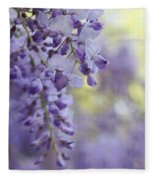 Wisteria's Soft Floral Whispers Fleece Blanket