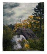 Witch Cottage Fleece Blanket