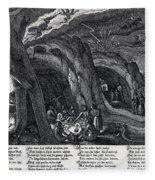 Witches Sabbath, 1630 Fleece Blanket