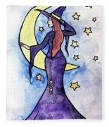 Witchy Moon Fleece Blanket