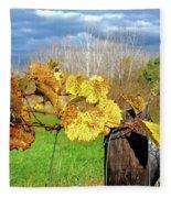 Withered Grape Vine Fleece Blanket