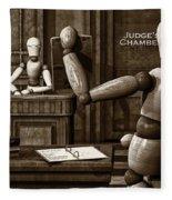 Witness For The Prosecution Fleece Blanket
