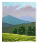 Witness Trees In Spring Fleece Blanket