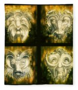 Wizard Rogue's Gallery Fleece Blanket