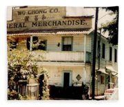 Wo Chong General Store Courtland Ca Fleece Blanket