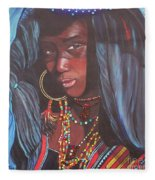 Virtuous Wodaabe Girl          From The Attitude Girls  Fleece Blanket