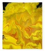 Wohlfahrtia And Begonia Fleece Blanket