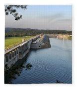 Wolf Creek Dam Fleece Blanket