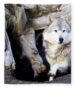 Wolf Den 1 Fleece Blanket
