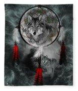 Wolf Dreamcatcher Fleece Blanket