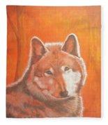 Wolf Home Burning Fleece Blanket