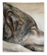 Wolf Nap Fleece Blanket