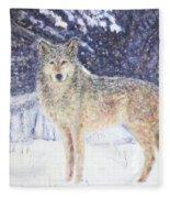 Wolf Of The North Fleece Blanket