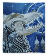 Wolf Skull Fleece Blanket
