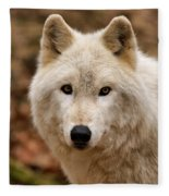 Wolf Watching Fleece Blanket