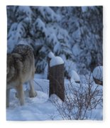 Wolf Wonderland Fleece Blanket
