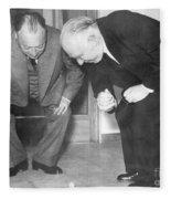 Wolfgang Pauli And Niels Bohr Fleece Blanket