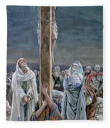 Woman Behold Thy Son Fleece Blanket