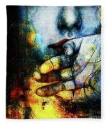 Woman Face Fleece Blanket