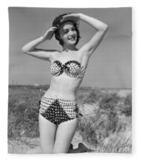 Woman In Bikini, C.1950s Fleece Blanket