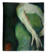 Woman In Green Fleece Blanket