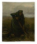 Woman Lifting Potatoes Nuenen, July - August 1885 Vincent Van Gogh 1853 - 1890 Fleece Blanket