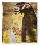 Woman Of Ancient Egypt Fleece Blanket