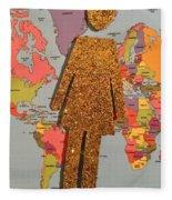 Woman Of The World Fleece Blanket