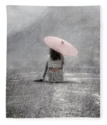 Woman On The Street Fleece Blanket