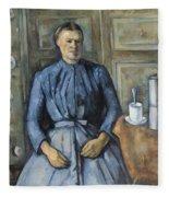 Woman With A Coffeepot  Fleece Blanket