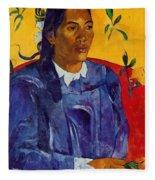 Woman With A Flower 1891 Fleece Blanket