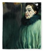 Woman With A Veil Fleece Blanket