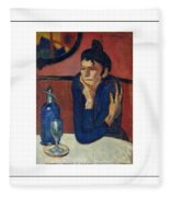 Woman With Coffee Femme Au Cafe Fleece Blanket