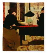 Women By Lamplight Fleece Blanket