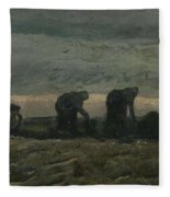 Women On The Peat Moor Nieuw Amsterdam, October 1883 Vincent Van Gogh 1853 - 1890 Fleece Blanket
