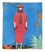 Womens Fashion, George Barbier, 1921 Fleece Blanket