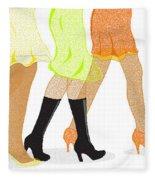 Womens Leg Dots Fleece Blanket