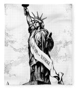 Womens Rights Cartoon, 1915 Fleece Blanket