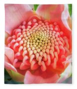 Wonderful Bright Pink Waratah Bud Fleece Blanket