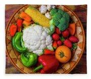 Wonderful Fresh Vegetables Fleece Blanket